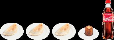 3 Empanadas Árabes + Bebida+ Canelé